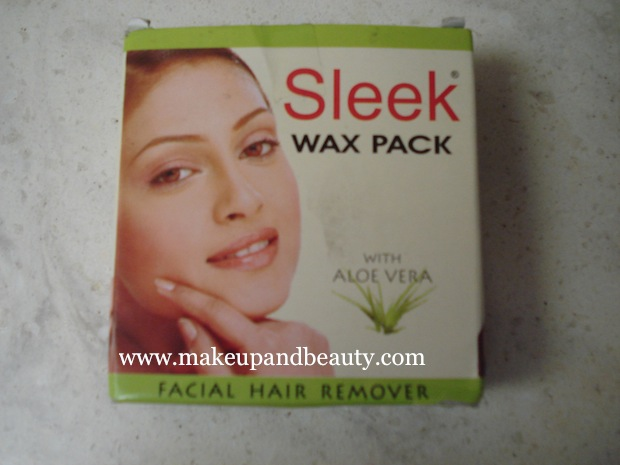 sleek wax pack facial hair remover