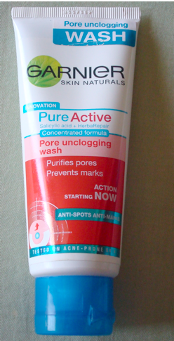 Garnier Pure Active Pore Unclogging Wash