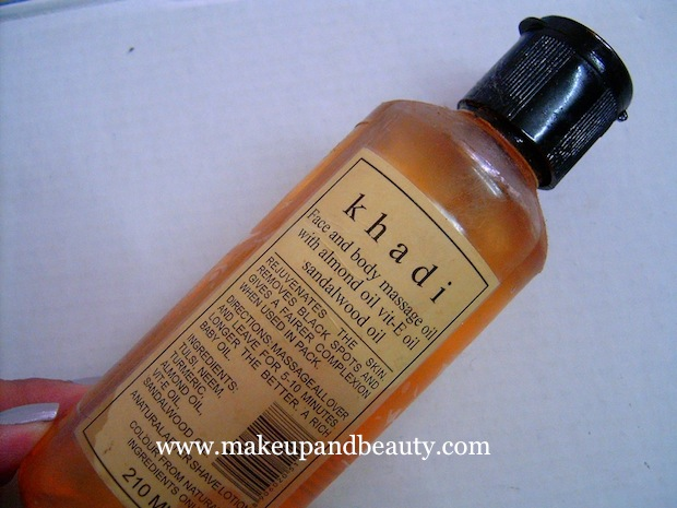 Khadi face and body massage oil