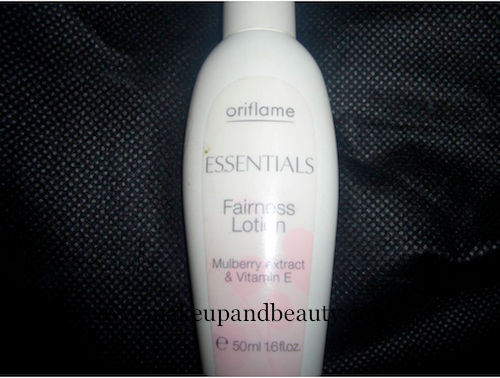 Oriflame Fairness lotion Oriflame Fairness Lotion with Mulberry & Vitamin E Review