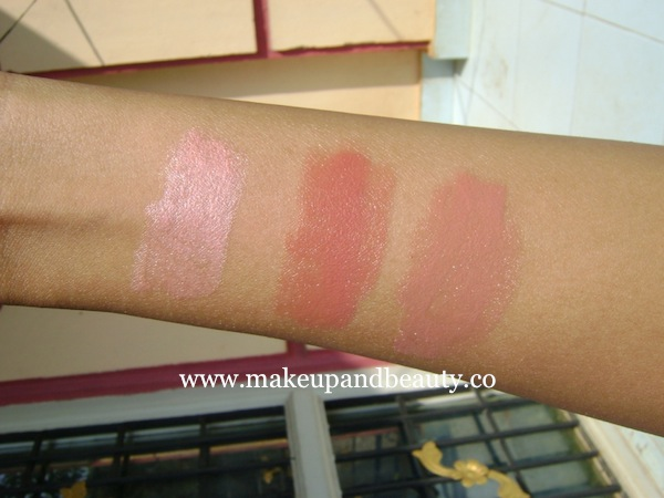 Oriflame Triple Core Lipstick swatches