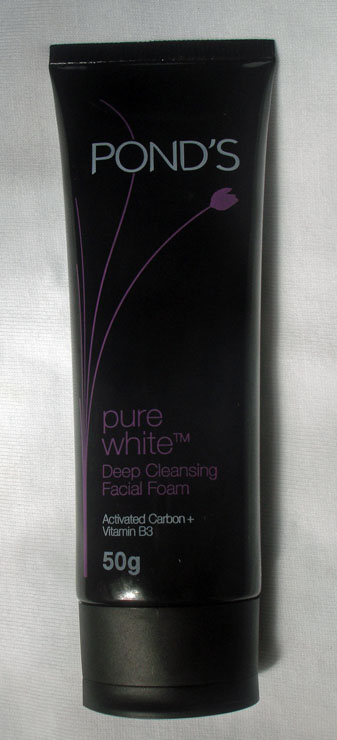 Ponds pure white deep cleansing facial foam