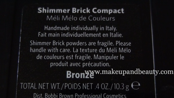 bobbi brown shimmer brick bronze back