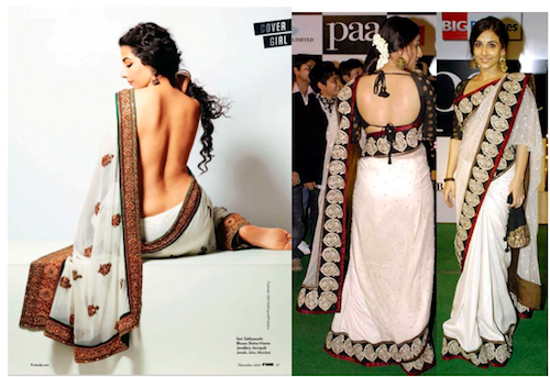 bollywood backless vidya balan