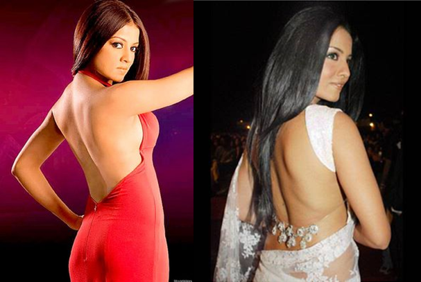 celina jaitley backless
