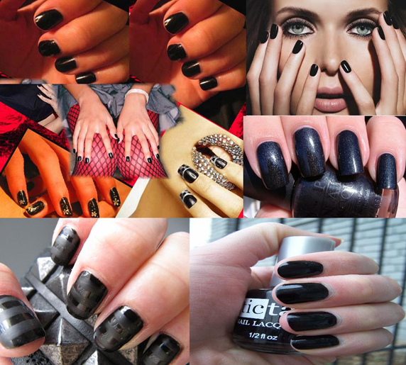nail paint shades black