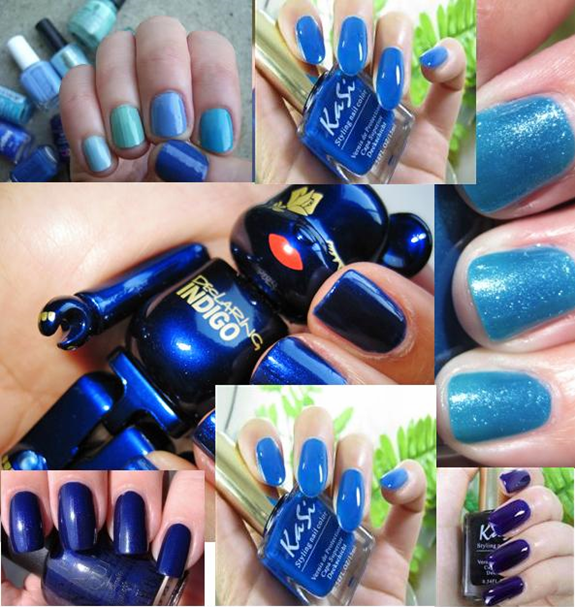 nail paint shades blue