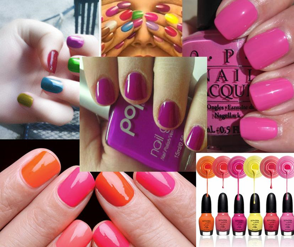 nail paint shades fluorescent