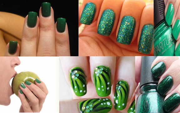 nail paint shades green