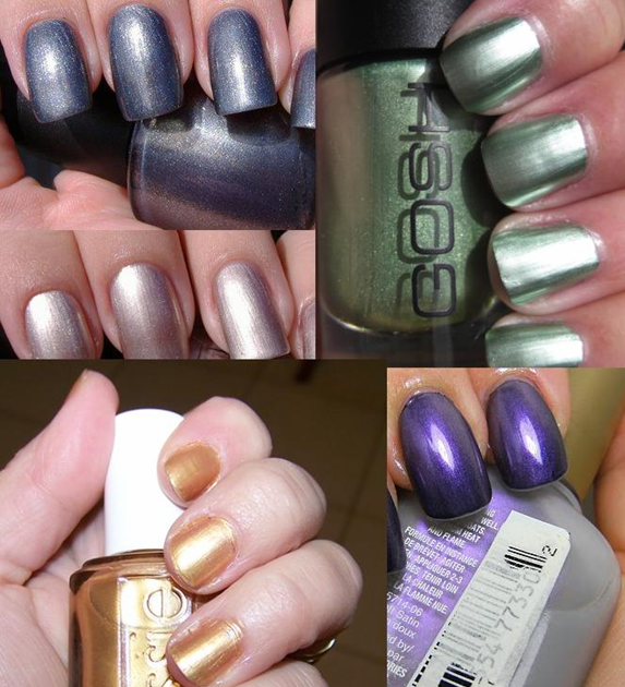 nail paint shades metallics