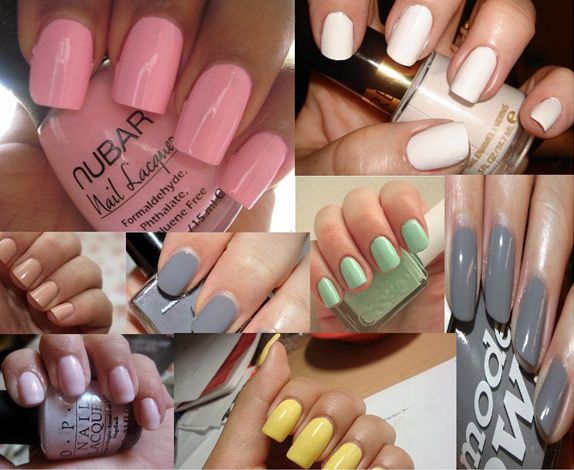 nail paint shades neutral pastel