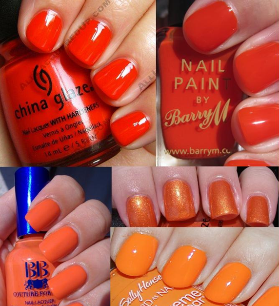 nail paint shades orange