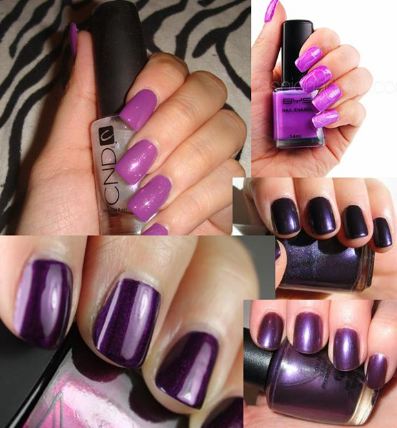 nail paint shades purple