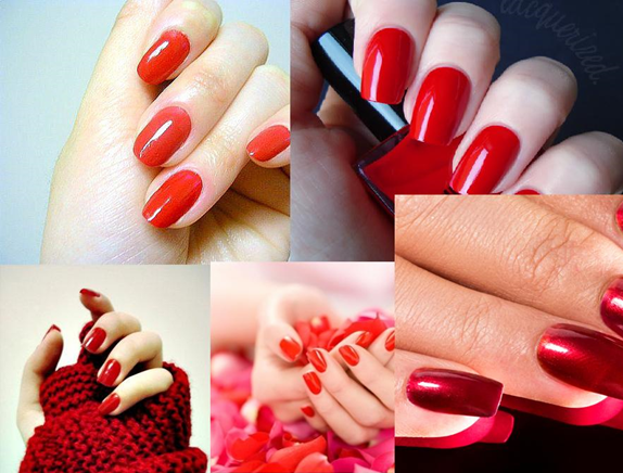 nail paint shades red
