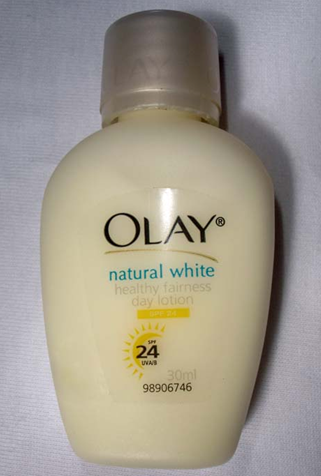 Facial Products  Women on My 30ml Bottle Of Olay Natural White Healthy Fairness Day Lotion Spf24