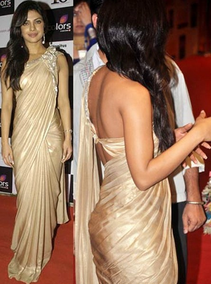priyanka chopra backless gown
