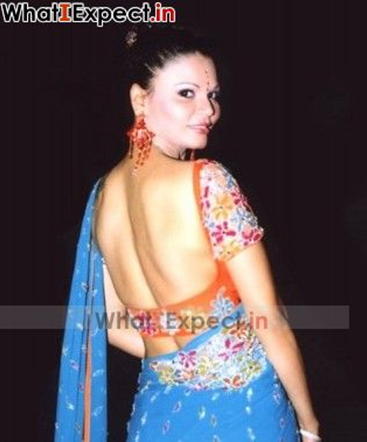rakhi sawant backless dress