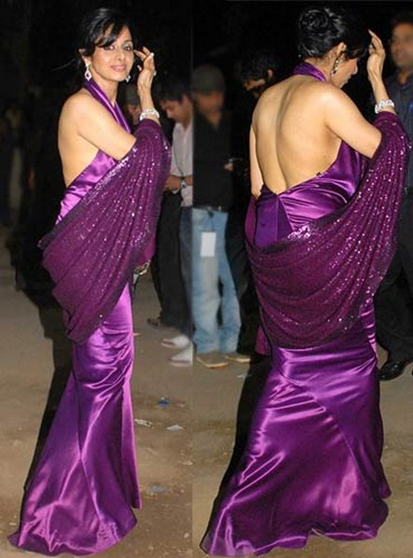 sridevi backless gown