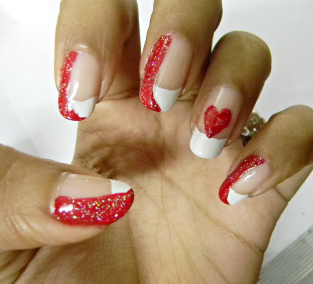valentines day nail art tutorial