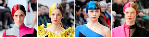 color blocking trend hair