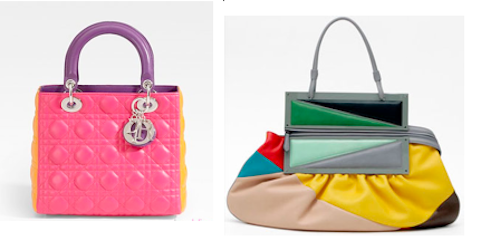 color blocking trend bags