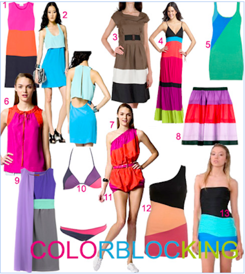 color blocking trend Color Block Fashion: Trend Alert