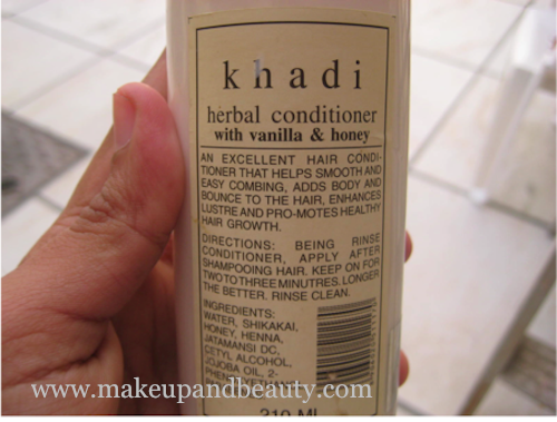 khadi hair conditioner vanilla honey