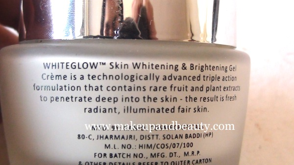 lotus herbals whiteglow gel creme