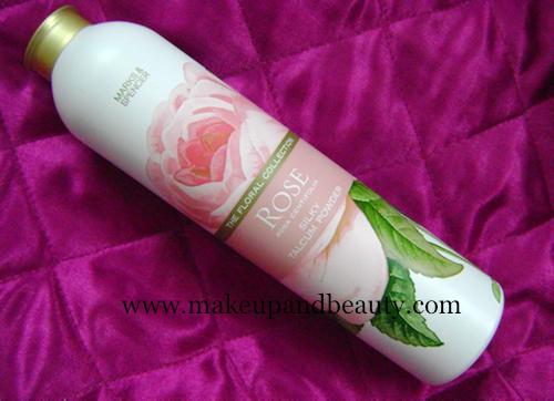 marks spencer rose silky talcum powder