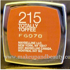 maybelline color sensational lipstick totally toffee