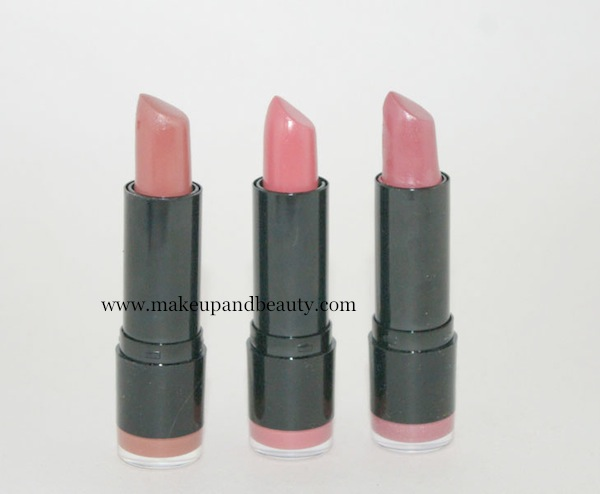 NYX Round lipstick in Perfect, Tea rose, Heather