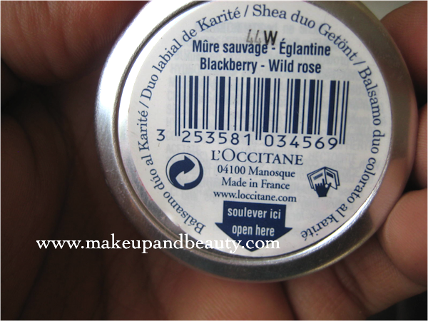 L'Occitane TEINTE DUO LIPBALM blackberry