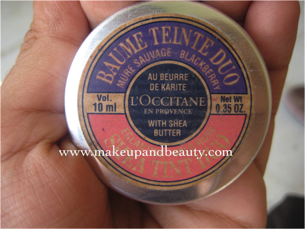 L'Occitane TEINTE DUO LIPBALM blackberry , l'occitane tinted lip balm