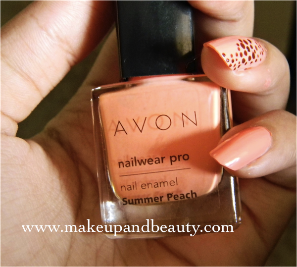 Avon Simply Pretty Nail Wear Pro Nail Enamel Summer Peach Review Swatch