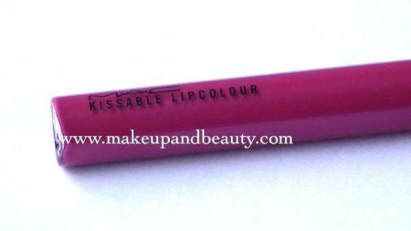 mac kissable lip colour Scandelicious