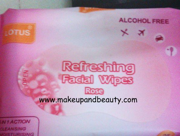 Lotus refreshing face wipes