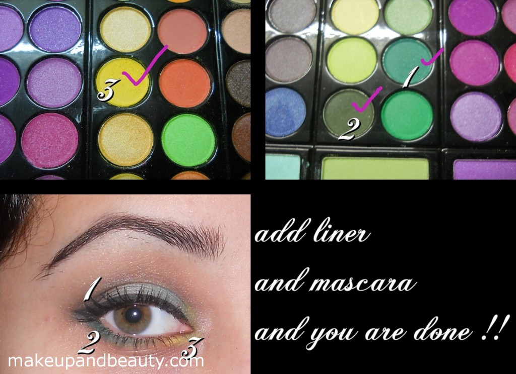 Green Eye Makeup - eyeliner