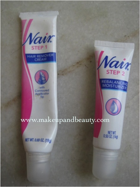 Nair facial hair remover cream
