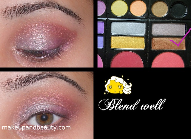 bronze eyeshadow Silver Plum Eye Makeup Tutorial
