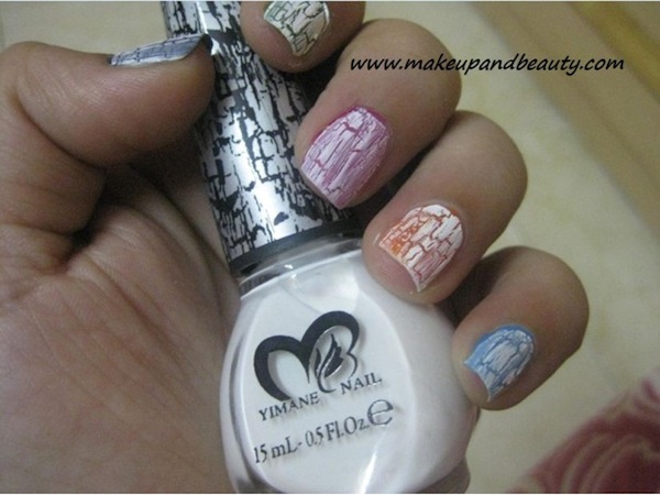 Versatility of designs, created with crackle nail polish, is similar to