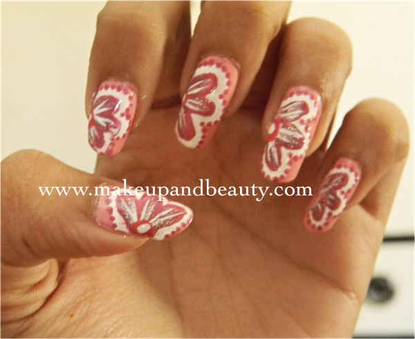 Pink Flowery Nail Art Tutorial – Indian Makeup and Beauty Blog