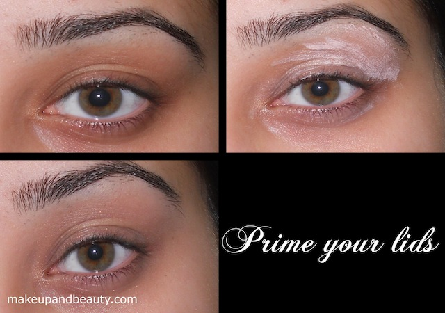 prime eyelids Silver Plum Eye Makeup Tutorial