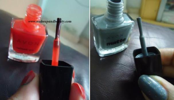 Avon Neon Coral Beat Nail Enamel Matte Grey Matter Nail Enamel Review