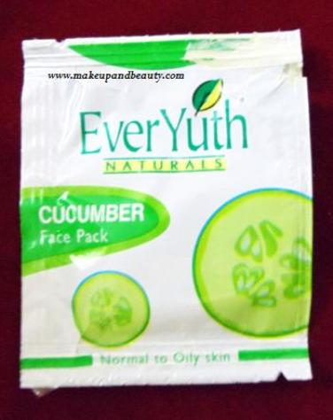 everyuth naturals cucumber face pack