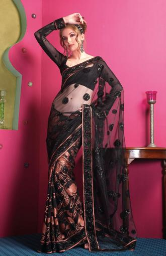 why are net sarees perfect for parties � indian makeup