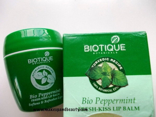 Biotique Fresh Kiss Peppermint Lip Balm Review