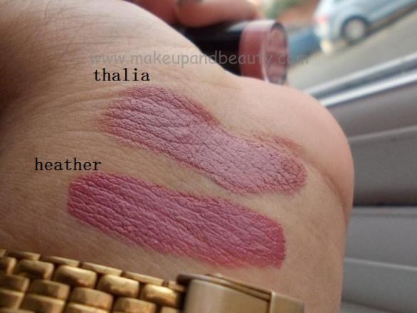 nyx round lipsticks heather and thalia