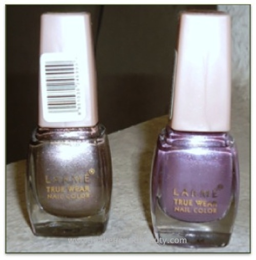 Lakme True Wear Nail Color #103 Twilight Mauve & #241