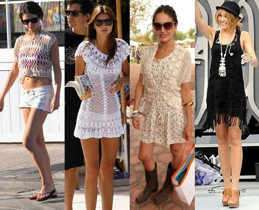 celebrities in crochet dress