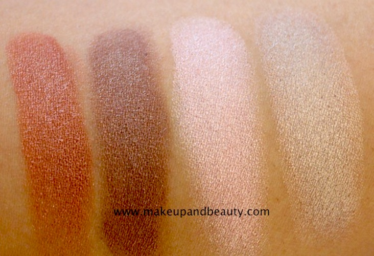 colorbar baked eyeshadow swatches